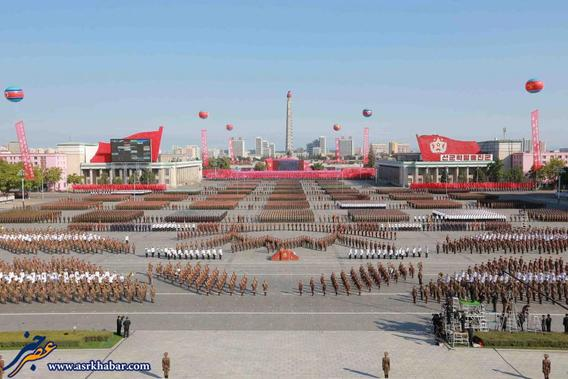 North Korean military participate in the celebration of the 70th anniversary of the founding of the ruling Workers' Party of Korea.    REUTERS/KCNA