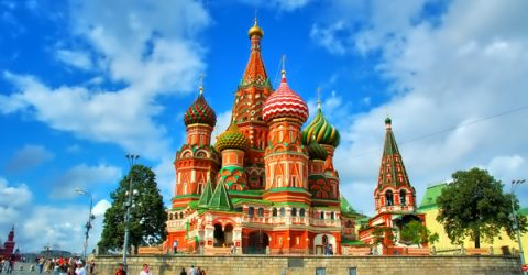 Church Moscow Russia Full HD 1080p Background
