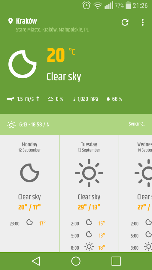 Simple-Weather-&-clock-widget