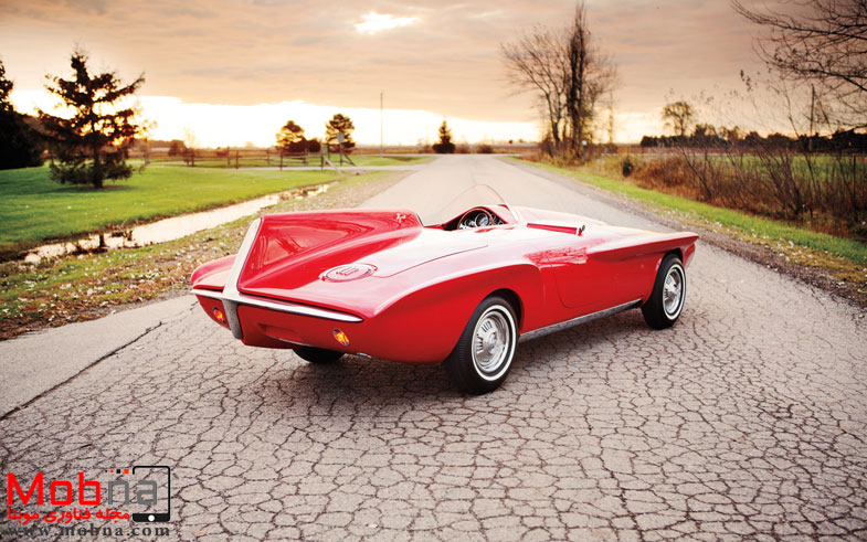 ۱۹۶۰-plymouth-xnr-concept-car-rear-three-quarter